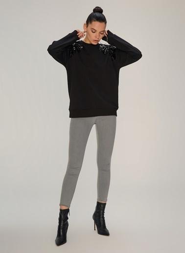 NGSTYLE Payet Detaylı Sweatshirt Siyah